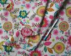 "Good Quality 1/2 meter by the yard white floral 100% Cotton Fabric 43.3"" xx"