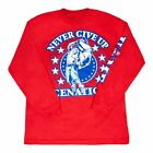 John Cena Red Long Sleeve WWE Authentic T-shirt Persevere Never Give Up