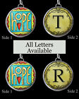 "Letters Initials Hope Yellow Necklace 1"" Silver Pewter Handcrafted Charm Pendant"