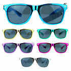 SA106 80s Pop Metalic Color Frame Retro Skater Horn Rim Party Shade Sunglasses