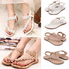 New SNG Women Summer T-Strap Gladiator Thong Flat Flip Flops Sandals Shoes Size