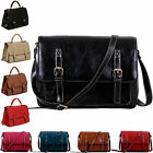 Womens Satchel Bags Mens Messenger Faux Lather Ladies Handbags Cross Body New