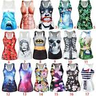Women Fashion Stretch Racerback Singlet Vest Tight U Neck Tank Top #2 BX
