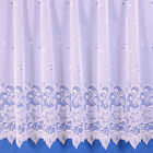 Vanessa Floral Net Curtain - In White - Various Widths And Drops Available