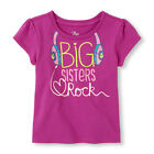 """NEW """"BIG SISTERS ROCK"""" GLOW in DARK Girls Shirt 18-24 Months 2T 3T 4T Gift"""