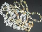 Costume Jewelry Neclace's  (2) Clear Plastic Beaded