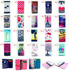 New Cartoon Flower Leather slot wallet pouch case skin cover FOR LG ZTE J #3