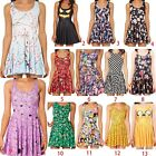 Women Party Summer Dresses Sleeveless Cartoon Casual Sundress Lady Dress #02