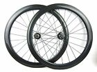 Disc brake Thru axle 15mm front 50mm Clincher carbon cyclocross bicycle wheels