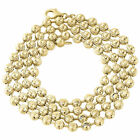 """10k Yellow Gold Moon Cut Style Link New Solid Chain Necklace (5mm) 26"""" - 40"""""""