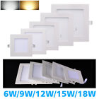 LED Round/Square Recessed Ceiling Panel Downlight Spot Light Lamp White LD440