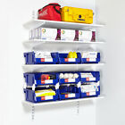 Twin Slot 4 Level Wall Mounted Steel Shelving Kits Shelving Racking Storage