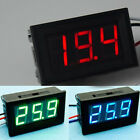 DC 0-30V Red LED 3-Digital Display Voltage Voltmeter Accurate Panel Car Motor