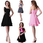 CLEAR OUT Womens Ladies Short Evening Maxi Bridesmaid Dresses Chiffon Cockabilly