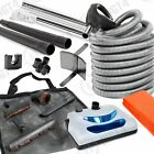 30' Electric Central Vacuum Kit w/Power Head, Hose & Tool...