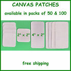 Canvas Heat Seal Iron On Patches ~ Tent Canopy Awning Tarp Cover Patch Repair