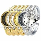 NEW Crystal Round Quartz Analog Wrist Watch Cuff Bangle Bracelet Band Watch Gift