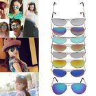 Women Men Retro Fashion Vintage 80s Aviator Colorful Mirror Lens Sunglasses