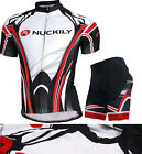 NUCK Cycling Bike Short Sleeve Clothing Set Bicycle Men Wear Suit Jersey+Shorts