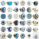 Large Selection - Blue White Grey Ceramic Drawer Pulls Knobs Porcelain China
