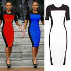 New Women's Optical Illusion slimming Stretch Bodycon Pencil Party Dress N483