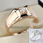 A1-R3088 Men's Solitaire Fashion Ring 18KGP Rhinestone Crystal Size 8,9,10,11.5