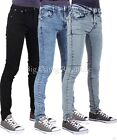Peviani Mens Boys Designer Super Skinny Fit Star Jeans Time Money Is Ice Wash