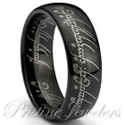 Lord of the Elvish Rings Silver Tungsten Promise One Ring Mens Comfort Fit Band