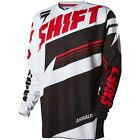 MENS GUYS SHIFT RACING MX ATV RIDING ASSAULT BLACK WHITE JERSEY SHIRT OFFROAD