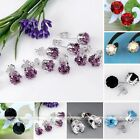 Multicolor Silvery Nickel Free Crysta Rhinestone Earring Ear Stud Xmas Gift
