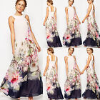 Womens Ladies Summer Boho Long Bridesmaid Dress Evening Party Dresses Prom Gown