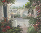 FLORAL LANDSCAPE SCENE 30 TO CHOOSE FROM ART OIL PAINTING OR CANVAS PRINTS 8x10""