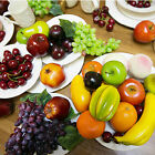 CHIC Realistic Lifelike Artificial Plastic Fruit kitchen Fake Display Home Decor