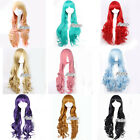 80CM 9 Colors Lolita Harajuku Style Long Curly Women Cosplay Hair Full Wig