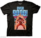 Dragonball Z Goku Over 9000 Adult Men T-Shirt S-2XL Black Anime Manga