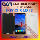 ACM-LEATHER DIARY FOLIO FLIP FLAP CASE for INFOCUS M810 MOBILE FRONT/BACK COVER