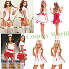Cosplay Nurse Uniform Costume Halloween Women Doctor Sexy Lingerie Fancy Dress
