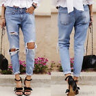 New Sexy Women High Waisted Denim Jeans Distressed Stretch Pants Korea Fashion
