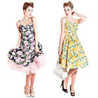 Collectif Fairy Vintage 1950s Flared Floral Party Prom Summer Sun Tea Dress