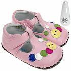 Girls Toddler Leather Soft Sole Baby Shoes Pink & Caterpillar Design & Shoe Horn