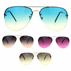 SA106 Luxury Gradient Lens Fashion Rimless No Rim Aviator Sunglasses