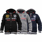 Boys Sweatshirt Santa Monica Polo Club Kids Hooded Top Sherpa Fleece Winter New