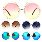 SA106 Oversize Scribble Circle Metal Rim Runway Designer Fashion Sunglasses