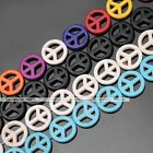 1 Strand Howlite Turquoise Peace Symbol Loose Beads Jewelry DIY 10mm 15mm 20mm