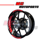 "Racing 17"" Wheels Red Fluorescent Rim Stripe Tape GP#2 Universal Motorcycles"