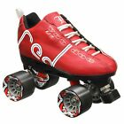 Labeda Voodoo U3 Quad Roller Speed Skates Customized Red w/ Black Cayman Wheels