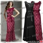Women Ball Gown Wedding Maxi Lace Evening Dress Bridesmaids Formal Party Dresses