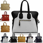New Womens Ladies Faux Leather Celebrity Style Smiley Tote Bag Shoulder Handbags