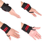 2 Wrist Weight Lifting Training Gym Straps Support Grip Glove Body Building AB
