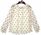 Girl's 2 pce Chiffon Feel Cute Fawn Print Blouse and Vest Top Set 6-14 yrs NEW